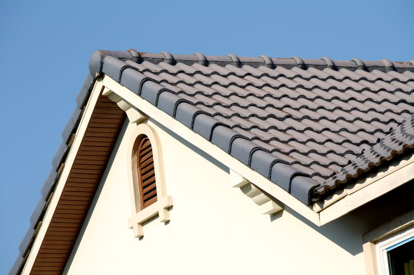 gray metal roof of a house